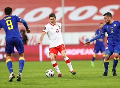 Robert Lewandowski in action against Andorra.