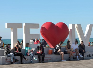 Israelis enjoy their outdoor time as restrictions are gradually lifted in Tel Aviv.