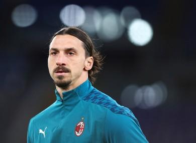 AC Milan's Zlatan Ibrahimovic.