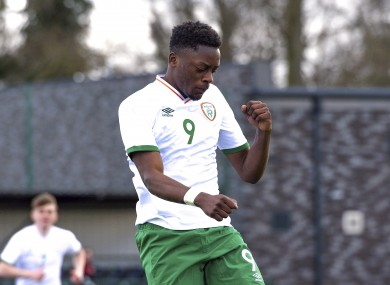Jonathan Afolabi celebrates his goal.