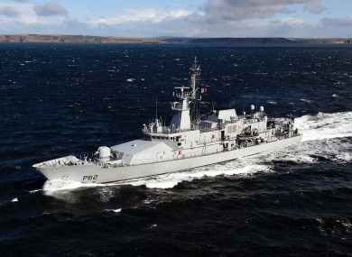 The LÉ James Joyce detained the vessel 65 nautical miles from Mizen Head.