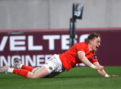 Mike Haley scored an excellent second-half try for Munster.
