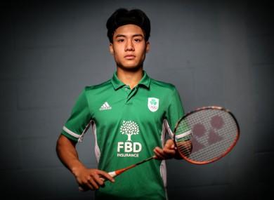Pictured is FBD Brand Ambassador, three-time National Badminton Champion and 2017 U-17 European Championship gold-medallist Nhat Nguyen.