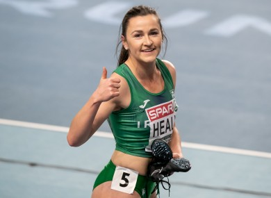Phil Healy after winning her heat.