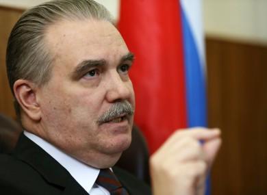 File photo. Russian ambassador Filatov.