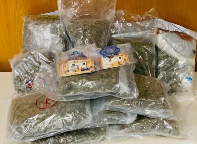 The suspected cannabis herb seized in Santry this evening.