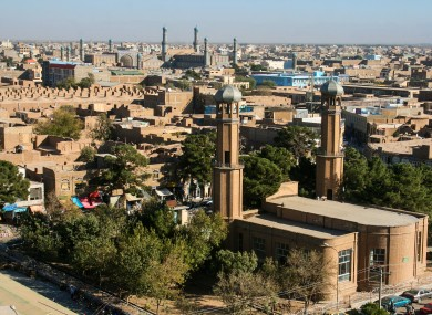 Herat, the city where the recent car bomb attack occurred.