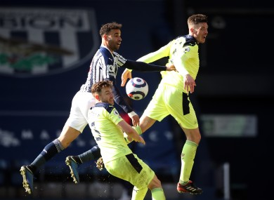Action from the clash between West Brom and Newcastle United.
