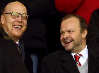 United front: Joel Glazer and Ed Woodward.