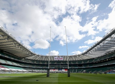 Twickenham will welcome up to 10,000 people.