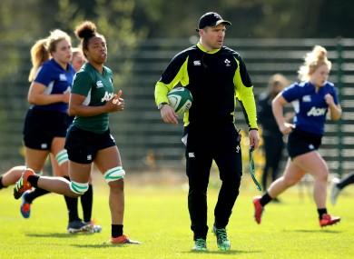 Ireland head coach Adam Griggs.