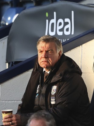 West Bromwich Albion's manager Sam Allardyce watches yesterday's game.