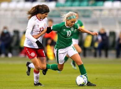 Denise O'Sullivan on the ball.