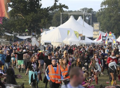 Crowds enjoy the Electric Picnic festival in 2014.