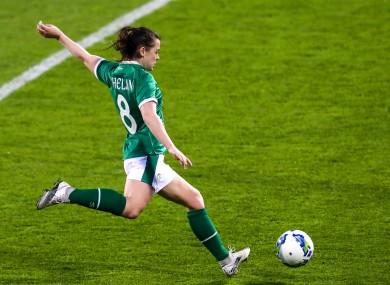 Emily Whelan impressed off the bench against Denmark on Thursday.