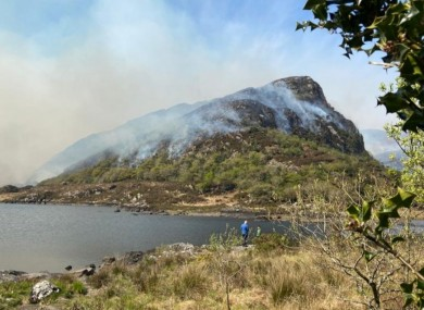 Image of the fires in Killarney on Saturday.