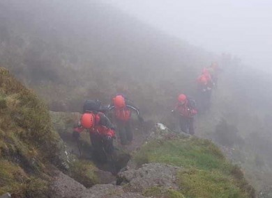 Members of the search team on Comeragh Mountain