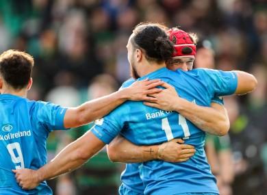 James Lowe and Josh van der Flier start for Leinster today.