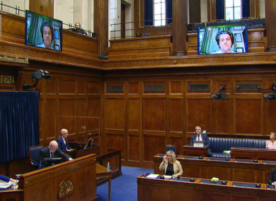 Arlene Foster joined today's meeting by video link.