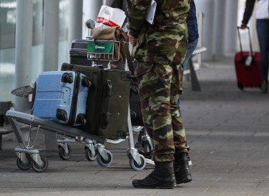 The Defence Forces are supporting the Department of Health in the mandatory quarantine system. File photo.
