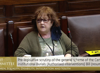 Bessborough survivor Alice Coughlan addressing the committee today