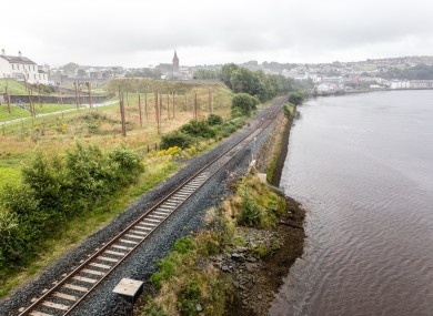 Railway track on line to Derry