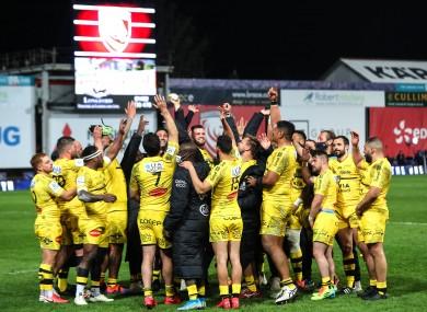 La Rochelle celebrate at the final whistle.