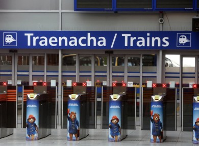 File image of Connolly Station in Dublin in 2017.