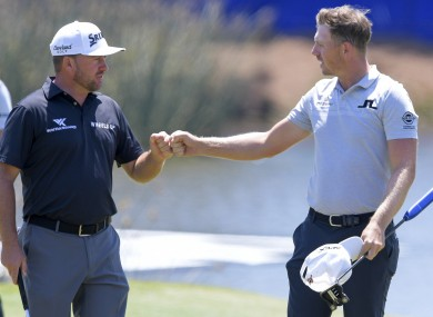 Graeme McDowell (left) in action in the Zurich Classic on Friday.