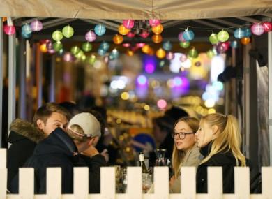 Dubliners enjoying outdoor dining last October.