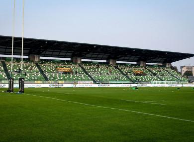 A general view of Stadio di Monigo.