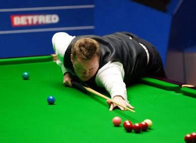England's Shaun Murphy plays a shot.