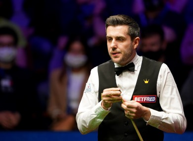 England's Mark Selby during day 16 of the Betfred World Snooker Championships 2021 at The Crucible.