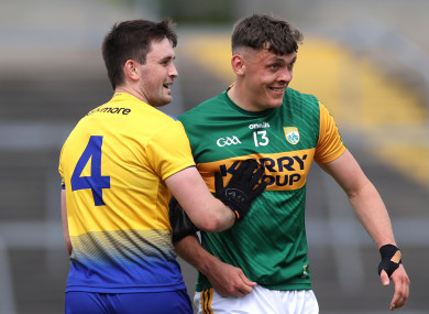 Roscommon's Brian Stack and David Clifford of Kerry.