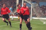 Keane and Cantona during their time together at United.
