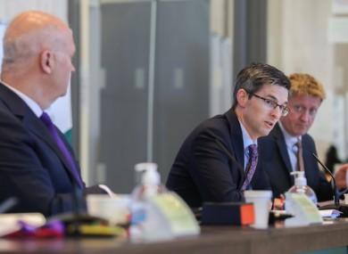 Deputy CMO Dr Ronan Glynn at a NPHET press briefing last week.
