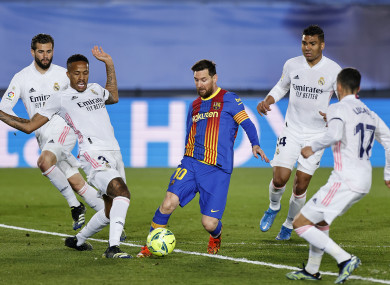 Lionel Messi in action for Barcelona against Real Madrid recently.