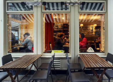 Outdoor dining returns from 7 June.