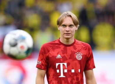 File photo of Ryan Johansson, playing for Bayern Munich against Borussia Dortmund.