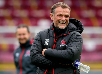 Jim Magilton pictured at Richmond Park yesterday.