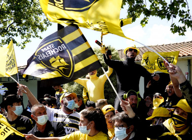 La Rochelle's supporters before the semi-final win over Leinster.