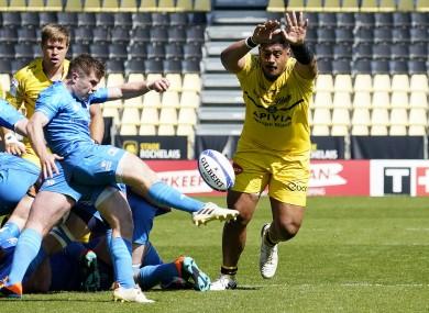 Luke McGrath in action yesterday.