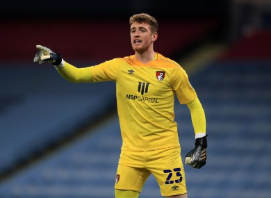 AFC Bournemouth goalkeeper Mark Travers (file pic).