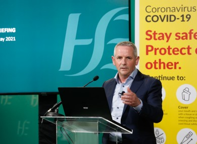 HSE chief Paul Reid at today's press briefing