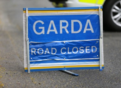 The road was closed while gardaí carried out an examination.