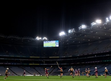 A general view of December's All-Ireland final.