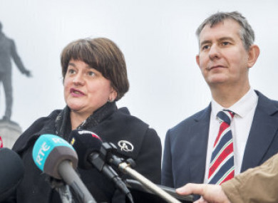 Foster and Poots pictured in 2018.