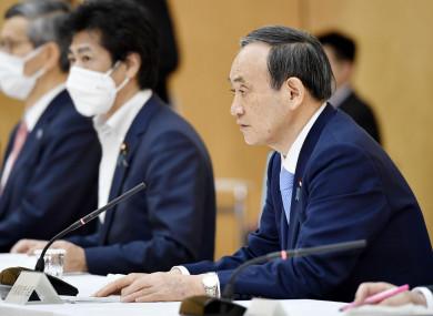 Japanese Prime Minister Yoshihide Suga.