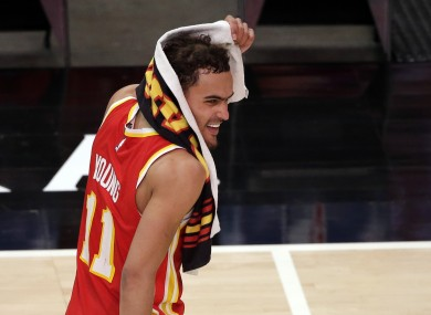 Trae Young and the Hawks are going to the playoffs.