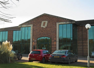 Quinn Industrial Holdings offices in Derrylin in County Fermanagh